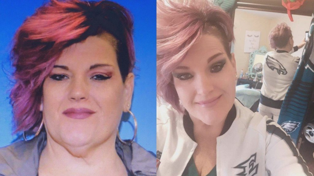 two pictures of missing woman