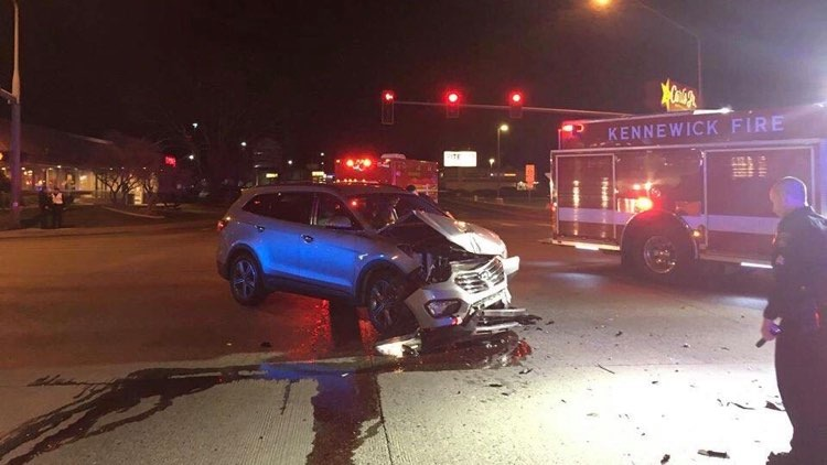Two car collision involving KPD officer