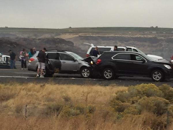 8 Month Old Killed, Seven Injured in Seven-Vehicle, Dust Storm Pileup South of Prosser
