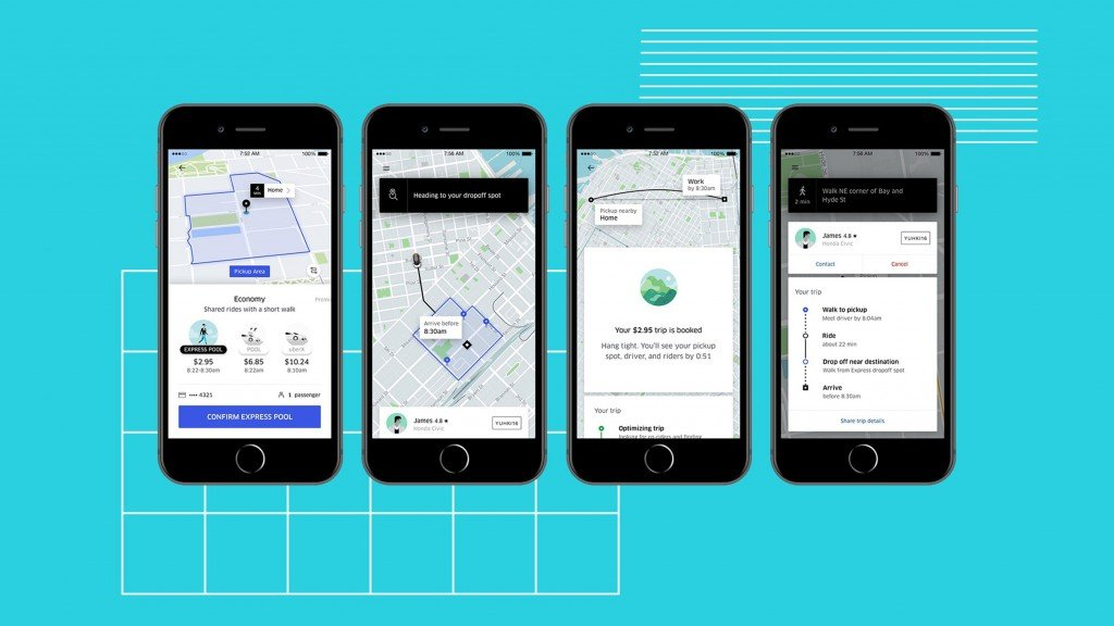 Uber Express is like a minibus with cheaper rides