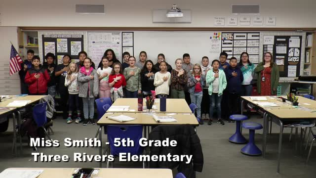 Raise The Flag Miss Smith's 5th Grade At Three Rivers Elementary