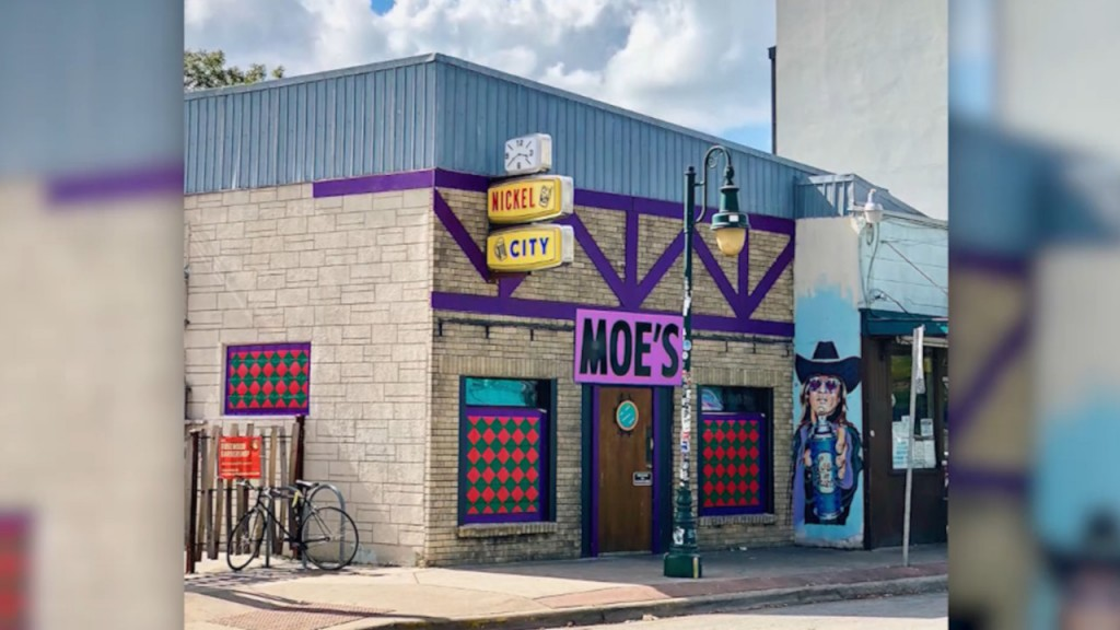 Bar transforms into Moe's Tavern from 'The Simpsons'