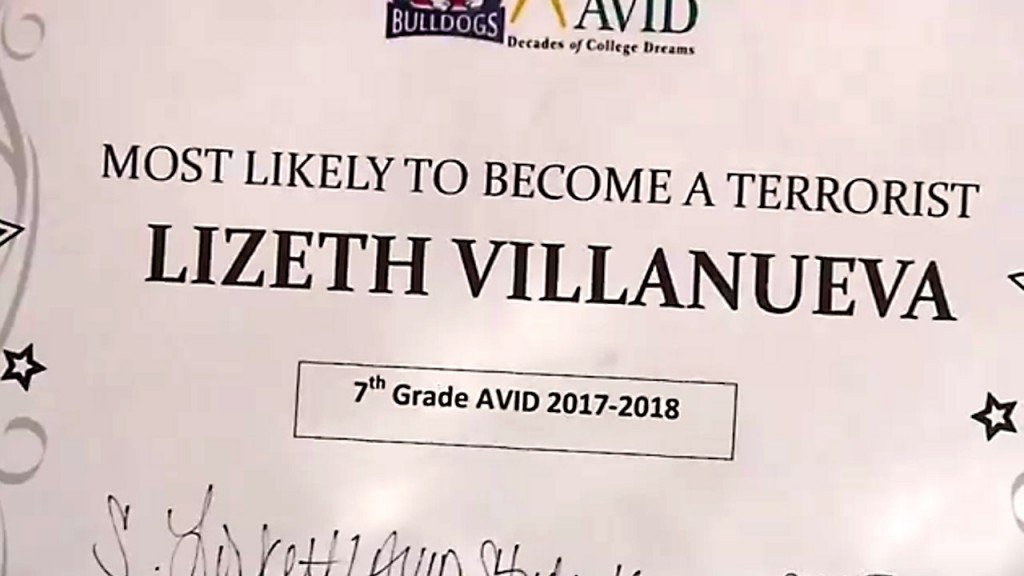 7th-grader gets 'Most Likely to Become a Terrorist' Award