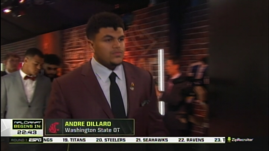 WSU's Andre Dillard picked No. 22 overall by the Philadelphia Eagles in the NFL draft