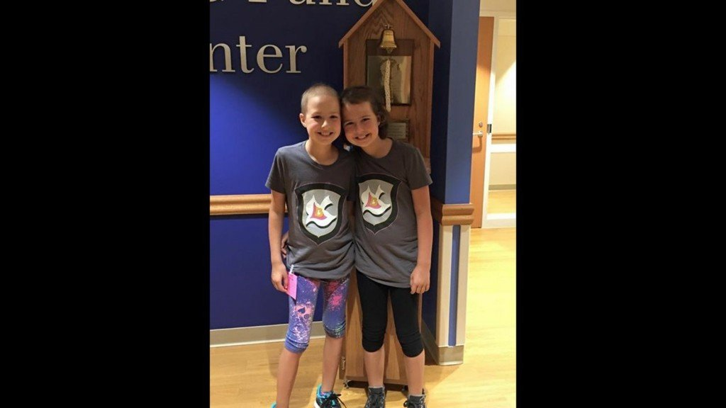 10-year-old twins fight leukemia together