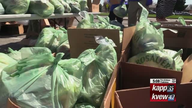 2nd Harvest Donates 8,500 Pounds Of Food To Families In Need; Kaitlin Knapp Reports