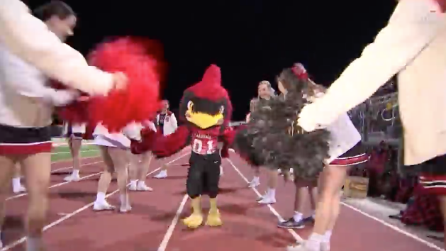 Kid overcomes mascot fear by becoming one