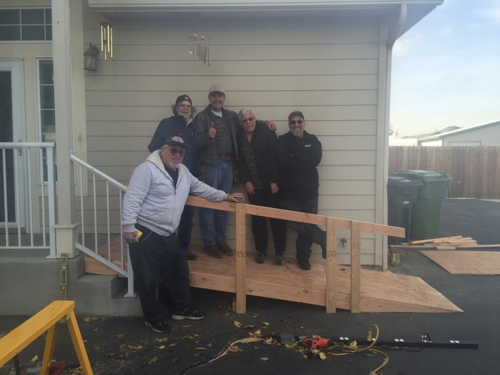 Local Veterans Build Wheelchair Ramp For Fellow Veteran They Have Never Met