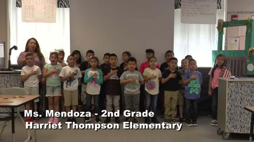 Raise the Flag – Ms Mendoza – 2nd Grade Harriet Thompson Elementary
