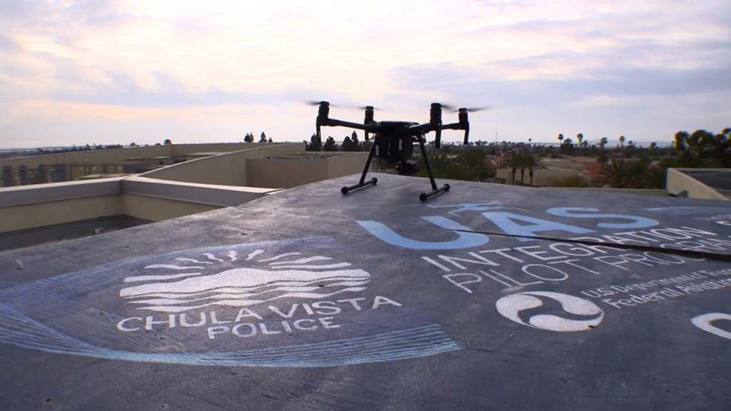 Drones responding to 911 calls in this California city