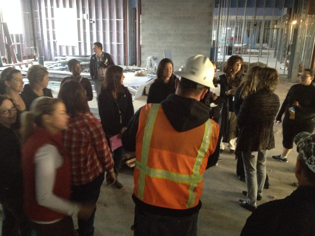 Staff Tours New Lewis and Clark Elementary Building