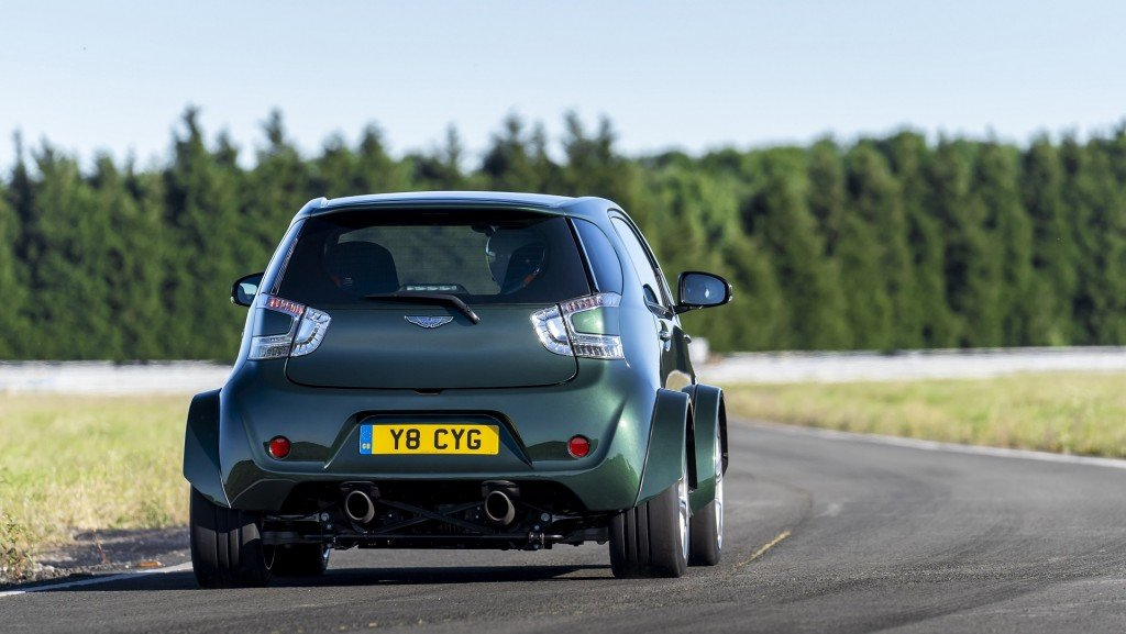 Aston Martin put a V8 in this silly, tiny car