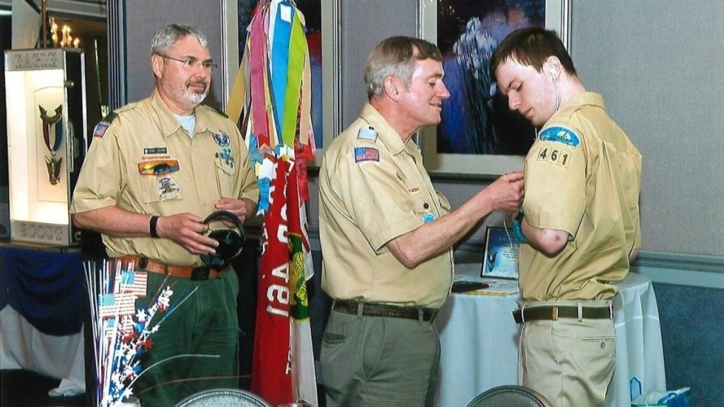 Boy Scout with nonverbal autism earns highest rank