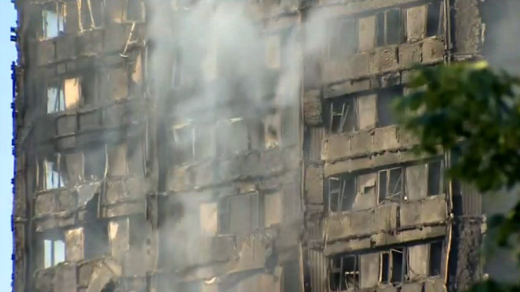 Images from London highrise inferno