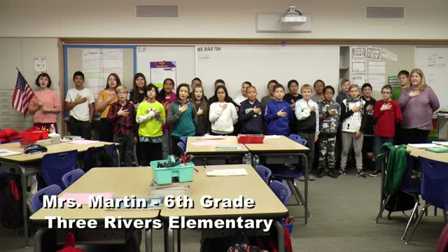 Raise The Flag Mrs. Martin 6th Grade At Three Rivers Elementary