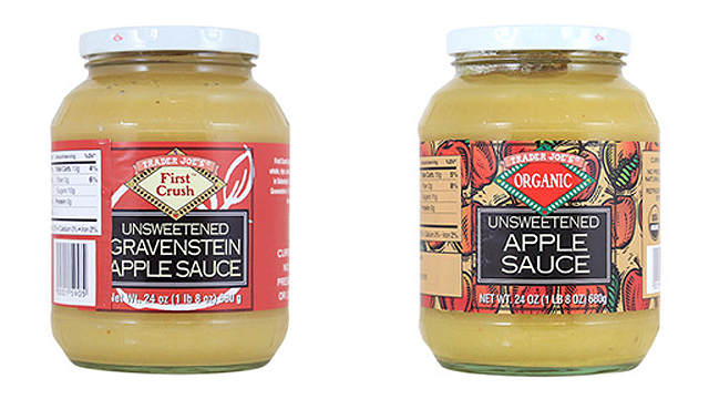 Trader Joe's apple sauces recalled