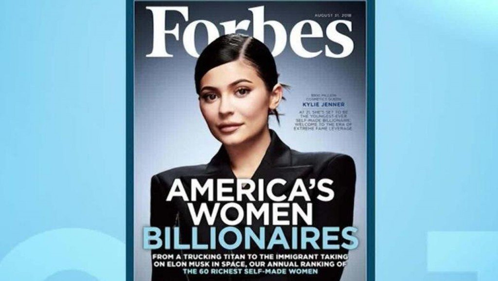 Backlash over Kylie Jenner being a billionaire