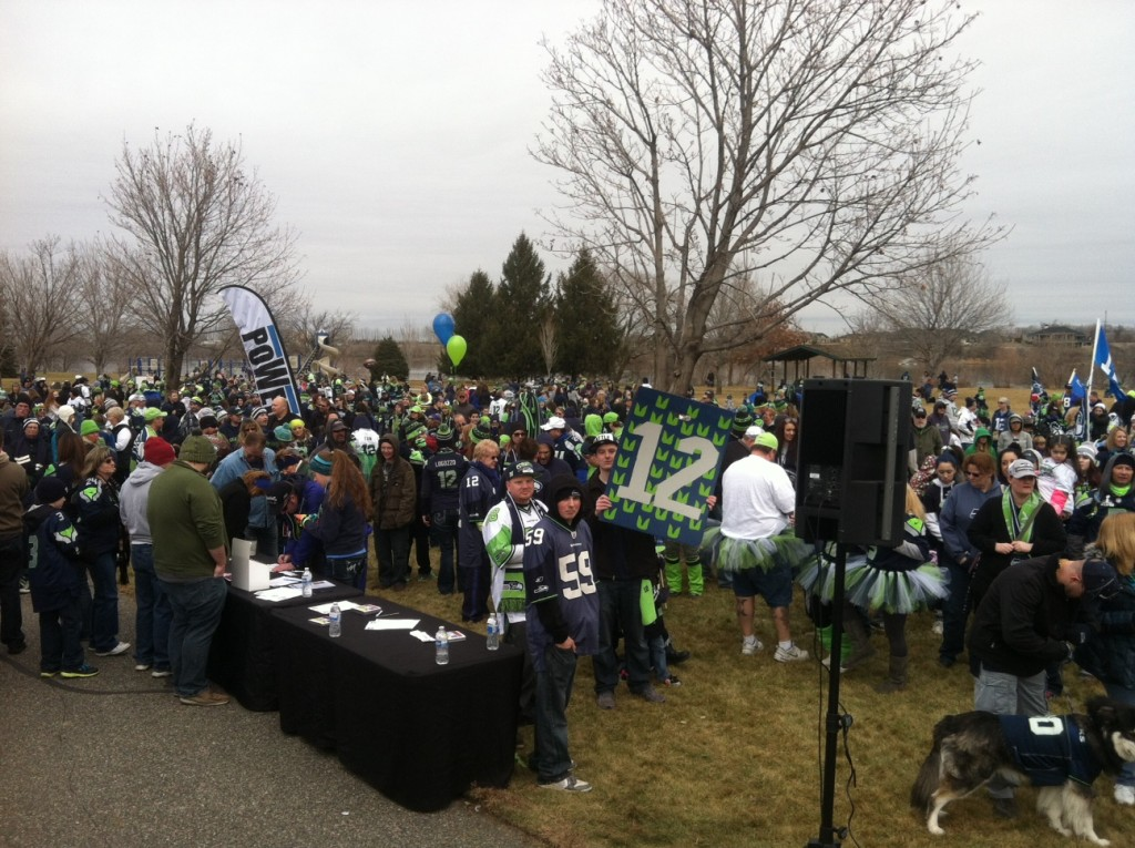 Seahawks Fans Show Up in Force at 12th Man Mile March