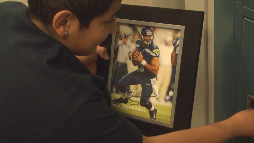 Local Kid Gets Some Encouragement from Russell Wilson
