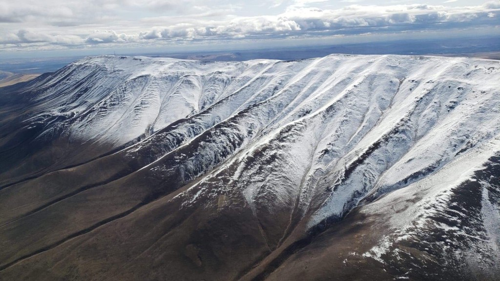 Local pilot takes photos of snow-capped Rattlesnake Mountain (GALLERY)