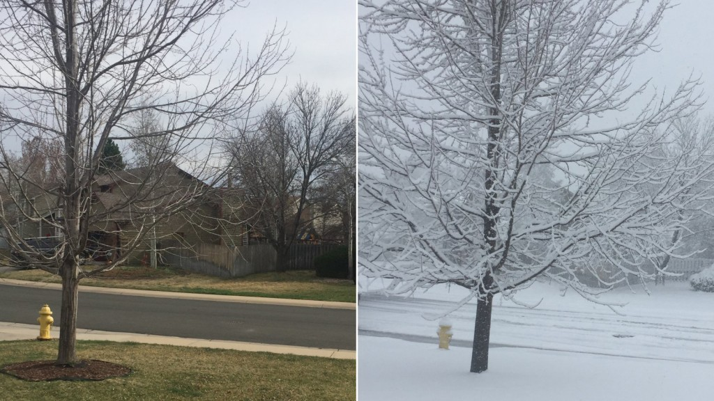 Colorado goes from summer to winter in less than a day