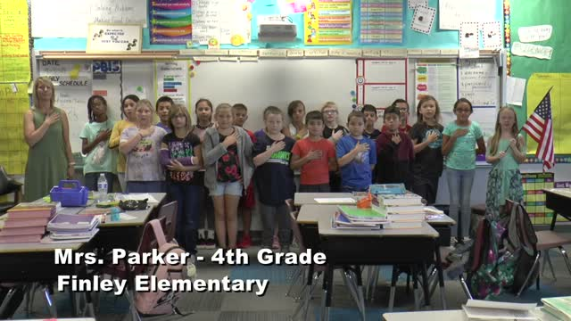 Raise The Flag Mrs. Parker's 4th Grade Class At Finley Elementary