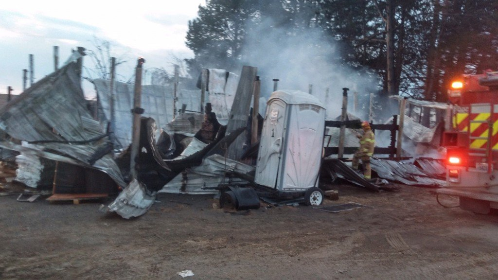 Barn fire takes the lives of ten horses in Royal City