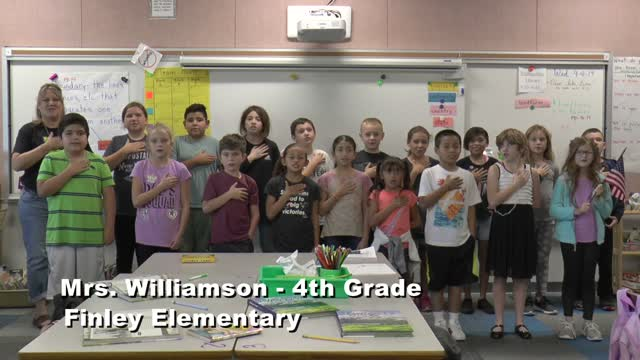 Raise The Flag Mrs. Williamson's 4th Grade Class At Finley Elementary