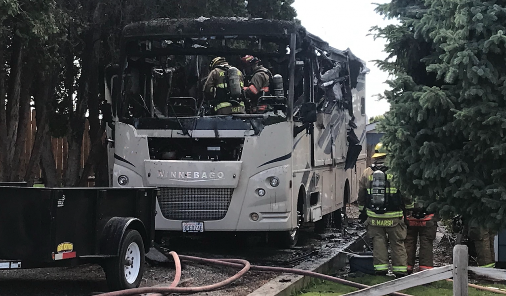 RV Fire in Kennewick