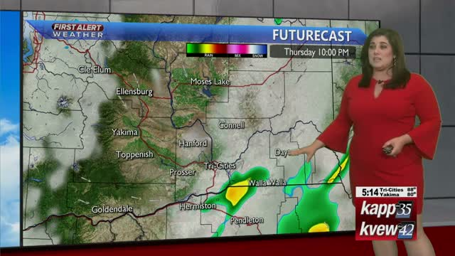 Showers Move Across The Region Thursday Eveing, Clear Skies To Follow On Friday