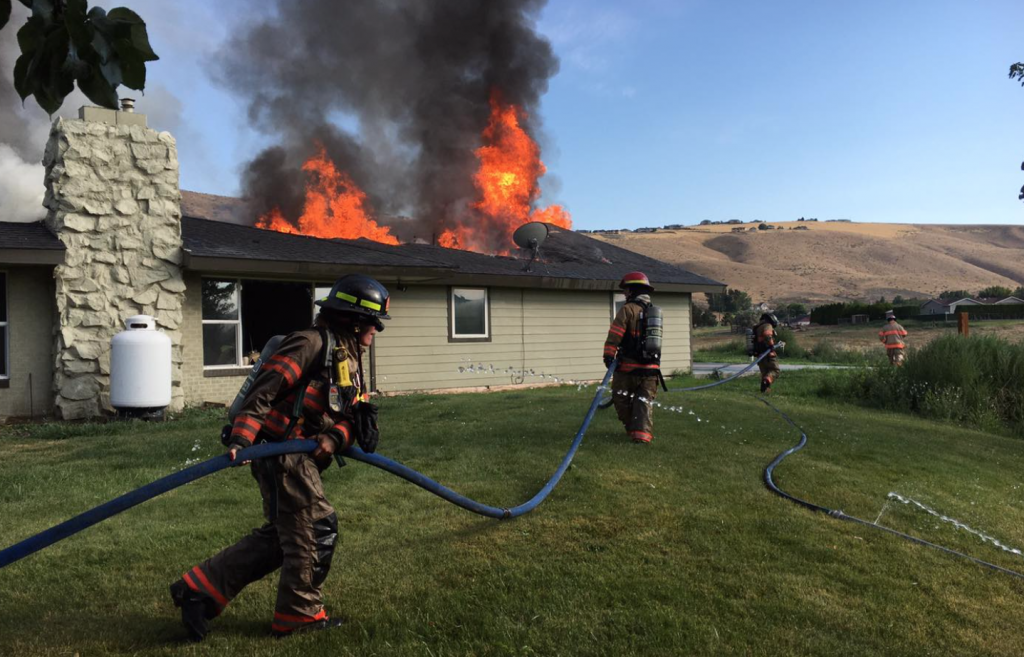 House fire in Benton County, home is a complete loss