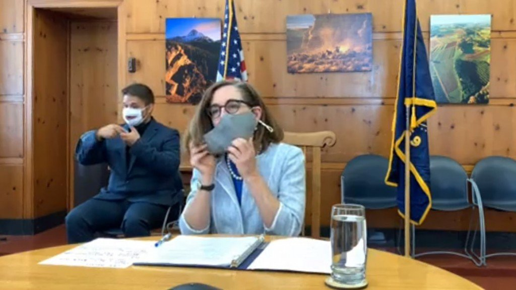 Governor Kate Brown mask
