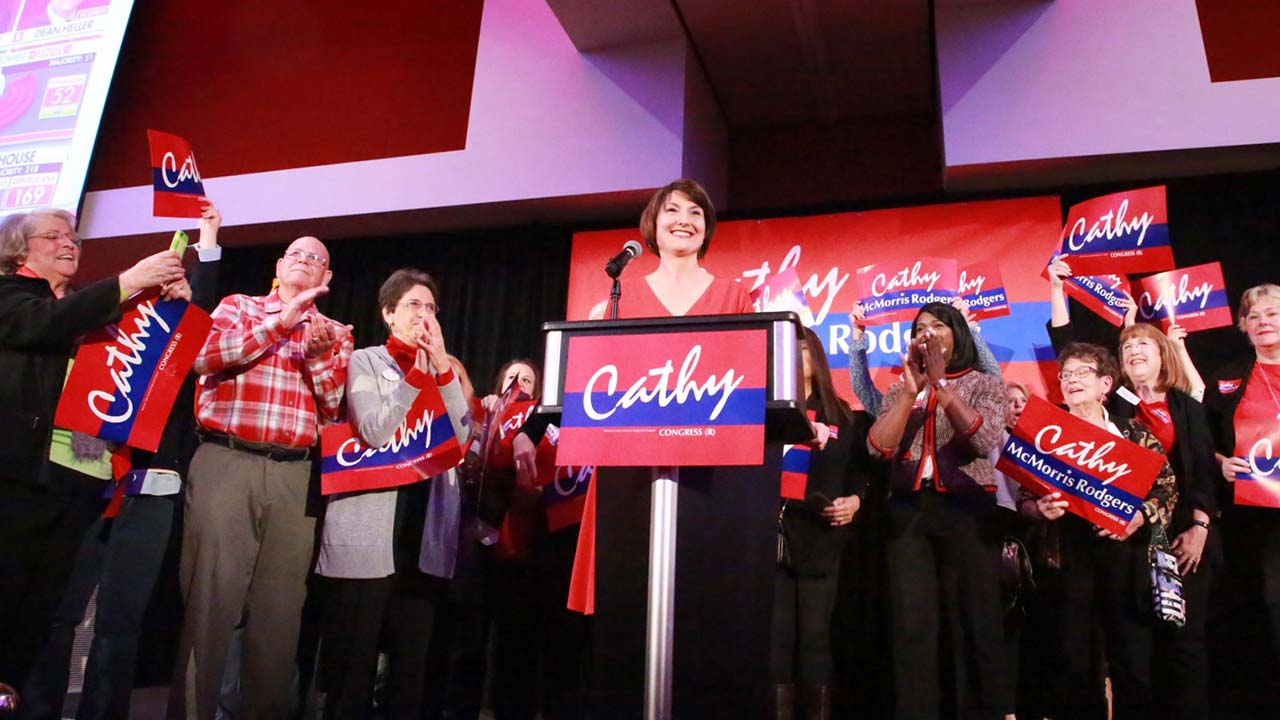 Rep. Cathy McMorris Rodgers advances to November election, with Dave Wilson coming in second - YakTriNews.com