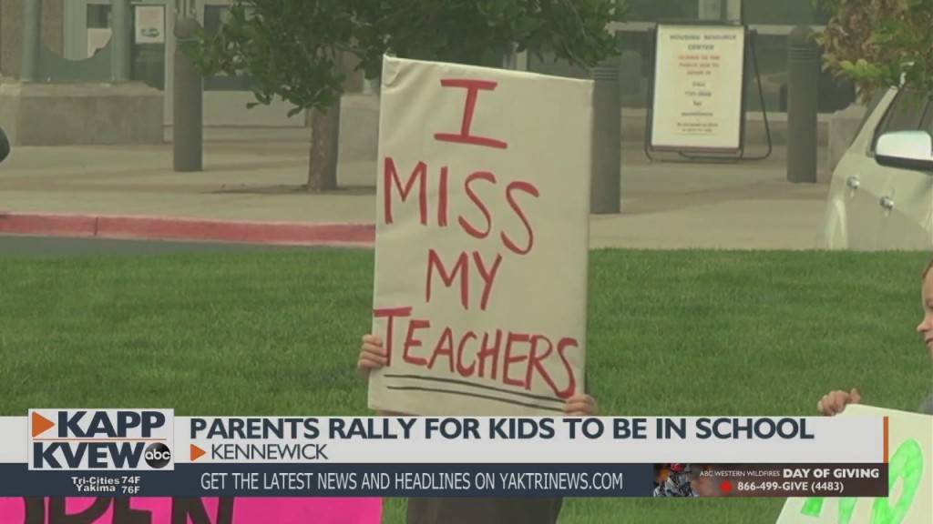 Parents Rally For Kids To Be In School