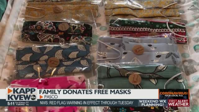 Family Donates Thousands Of Masks From Their Front Yard