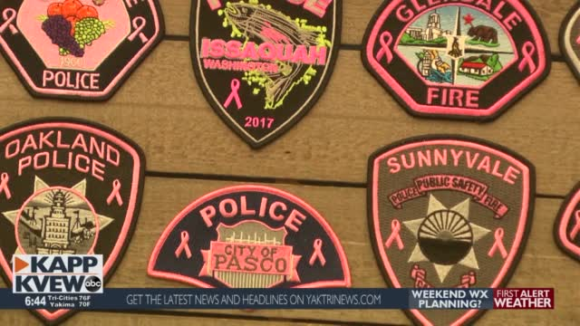Pasco Police Department Sport Pink Badges During October