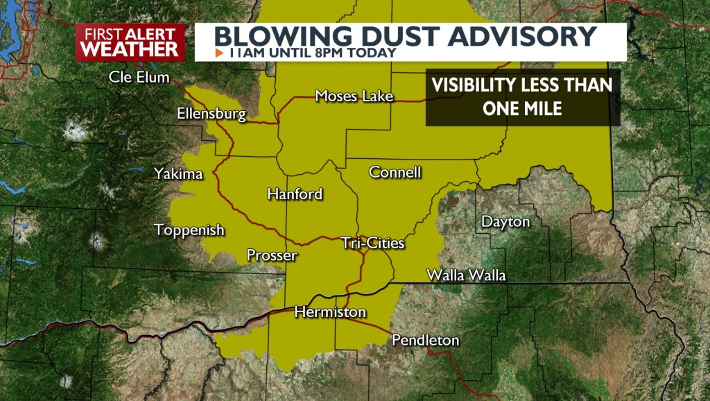 Blowing Dust Advisory today