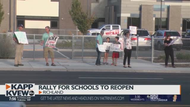 Richland School District Parents Rally To Demand Schools Open For In Person Learning