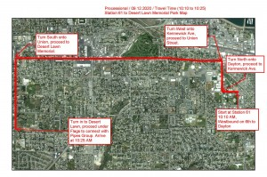 Kennewick Fire Department Memorial Procession Map