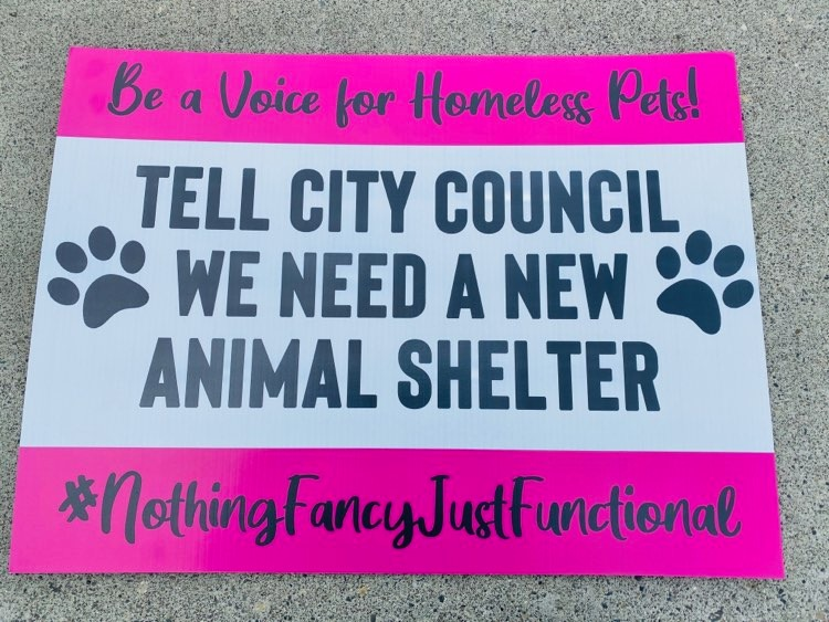 Tri-Cities Animal Shelter sign