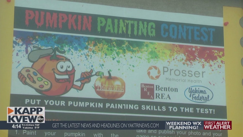 Prosser Starts Pumpkin Painting Contest For Students