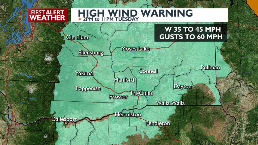 High Wind Warning this afternoon