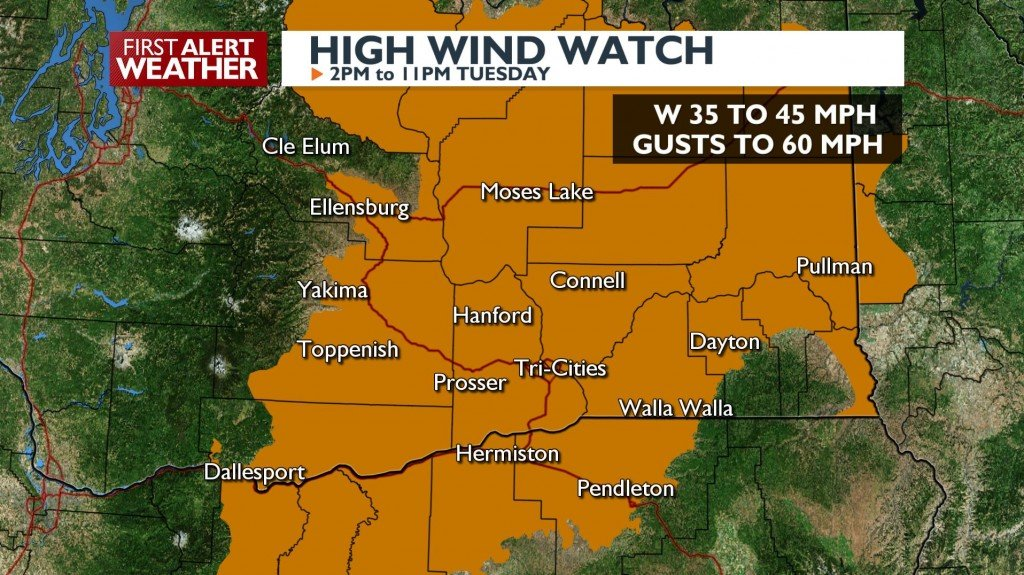 High Wind Watch Tuesday