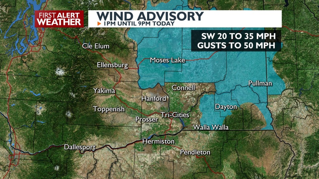 Wind Advisory this afternoon