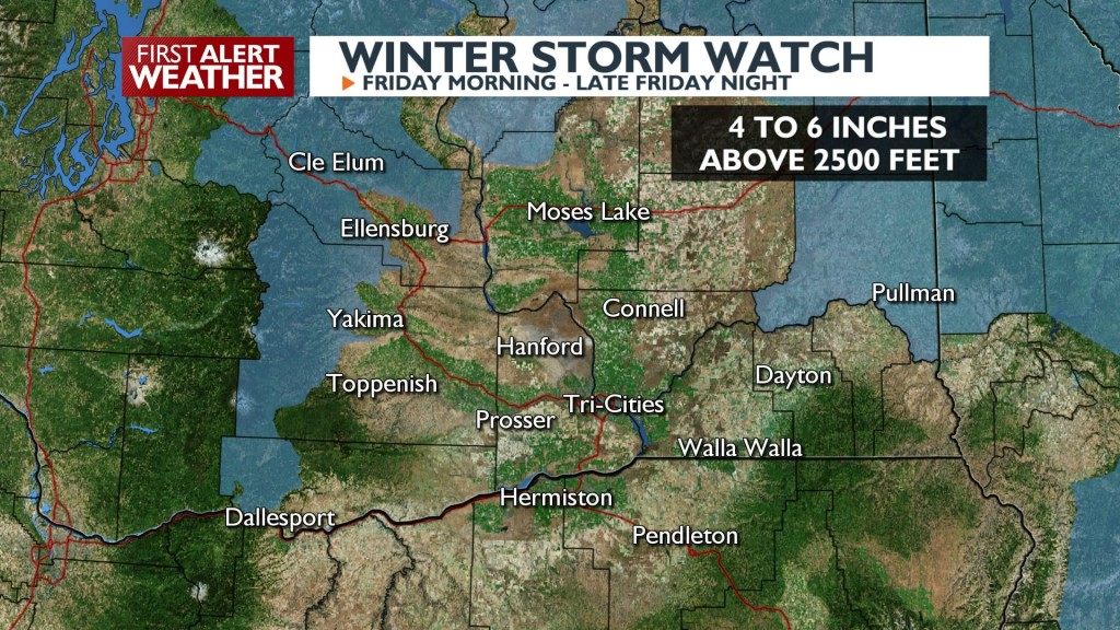 Winter Storm Watch eastern slopes