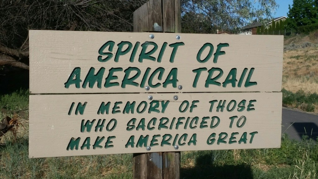 Zintel Canyon Spirit Of America Trail Sign
