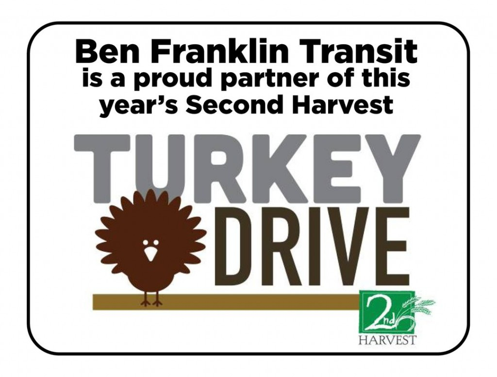 Ben Franklin Transit and Second Harvest partner to donate Thanksgiving dinner boxes to people without transportation