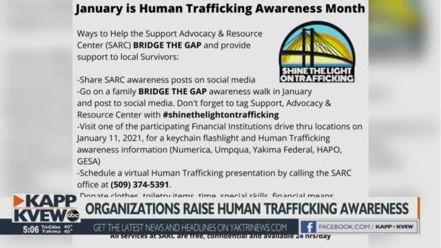 Tri Cities Organizations Spread Trafficking Awareness During January
