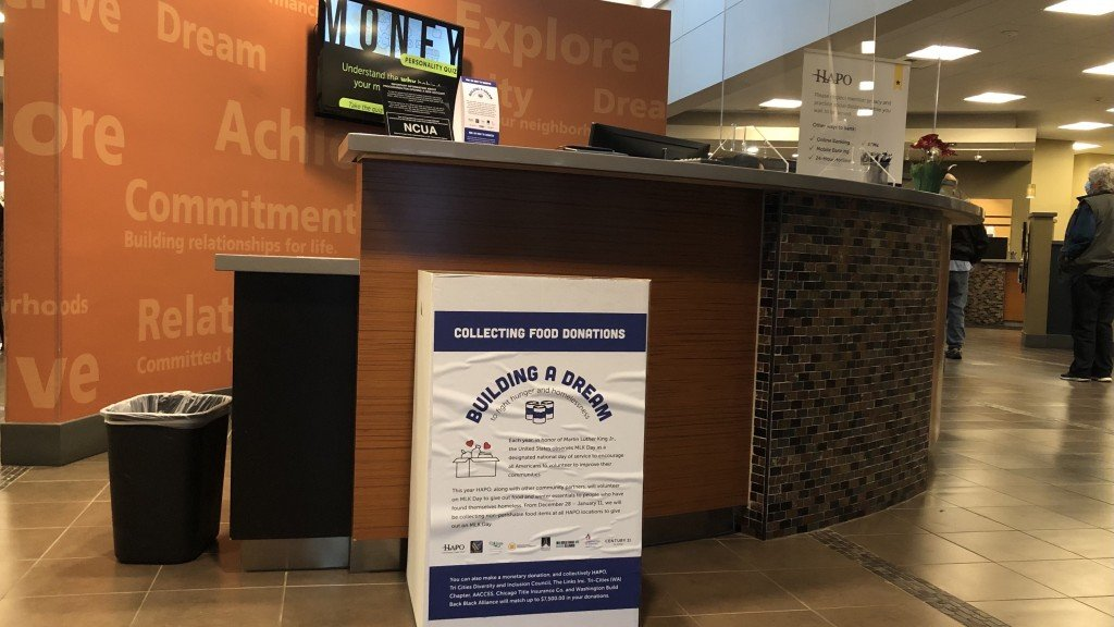 HAPO Community Credit Union Accepts Donations For Hungry and Homeless