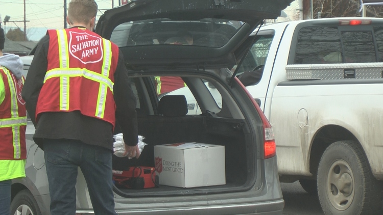 Yakima Salvation Army Food Distribution 1 20 21